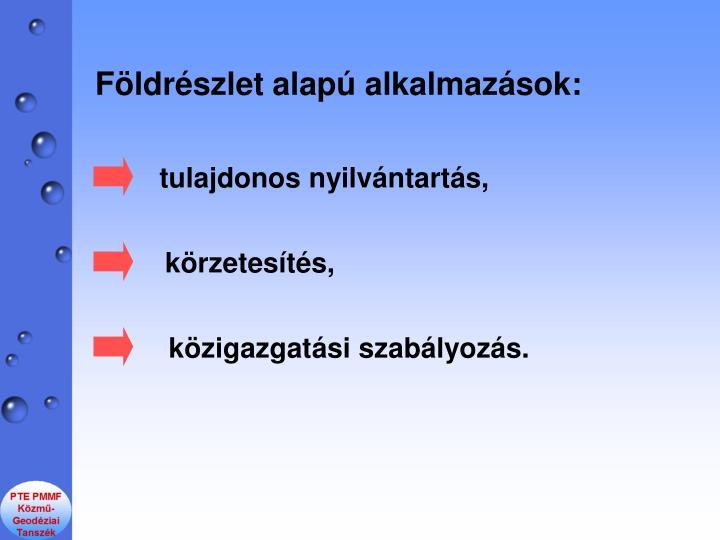 Fldrszlet alap alkalmazsok: