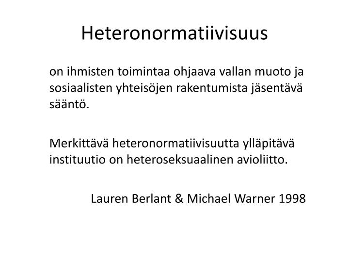 Heteronormatiivisuus