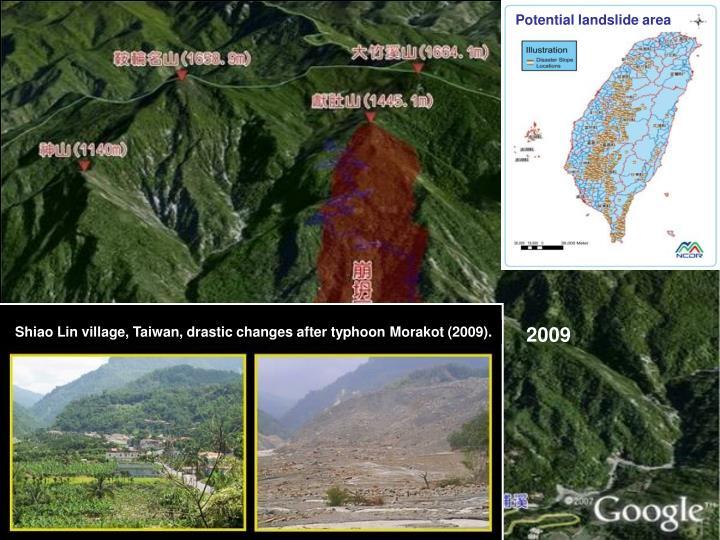 Potential landslide area