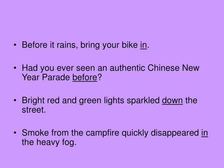 Before it rains, bring your bike