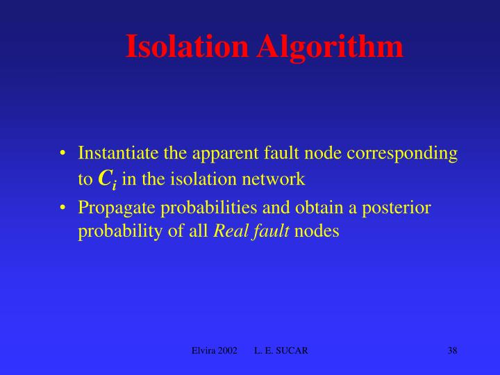 Isolation Algorithm
