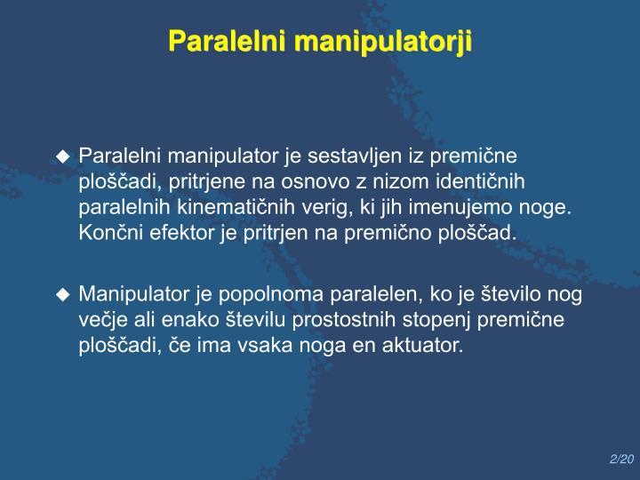 Paralelni manipulatorji