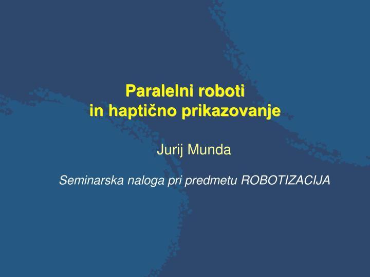 Paralelni roboti