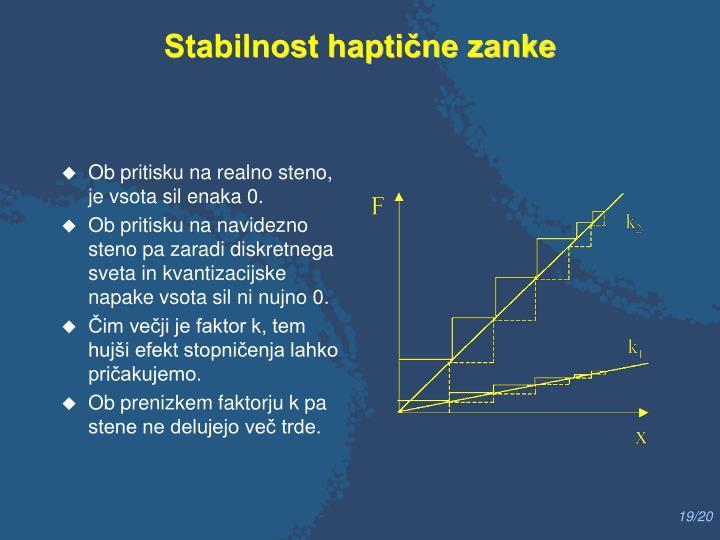 Stabilnost haptične zanke