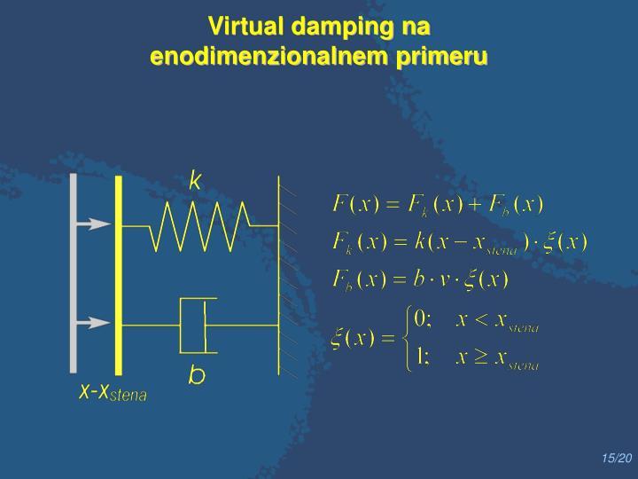 Virtual damping na