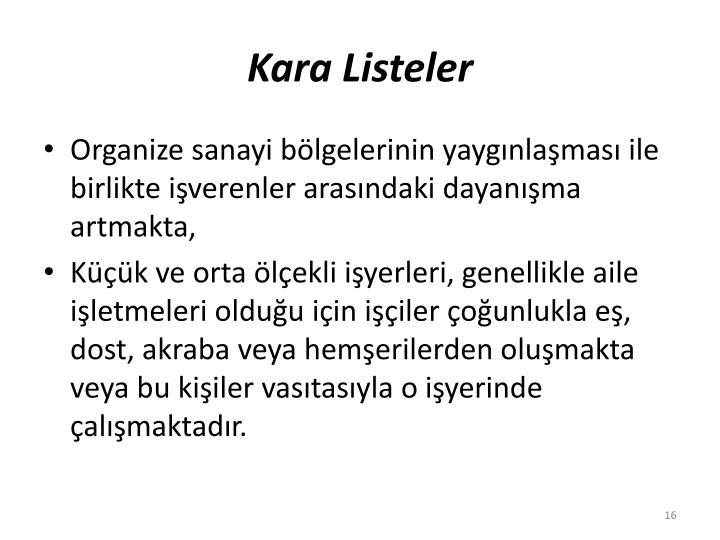 Kara Listeler