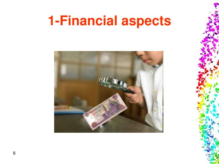 1-Financial aspects