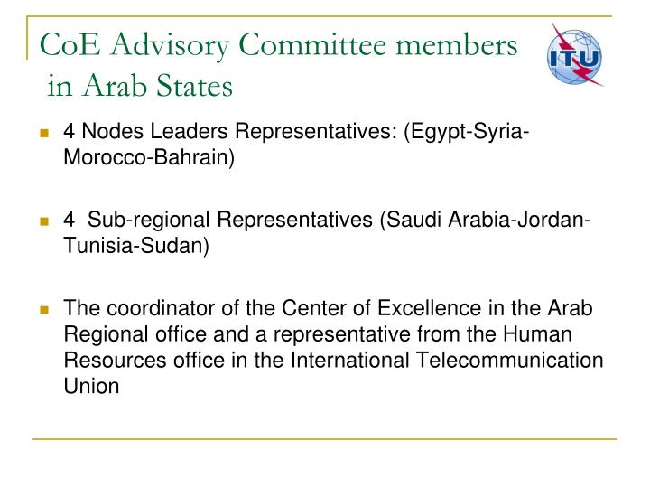 CoE Advisory Committee members