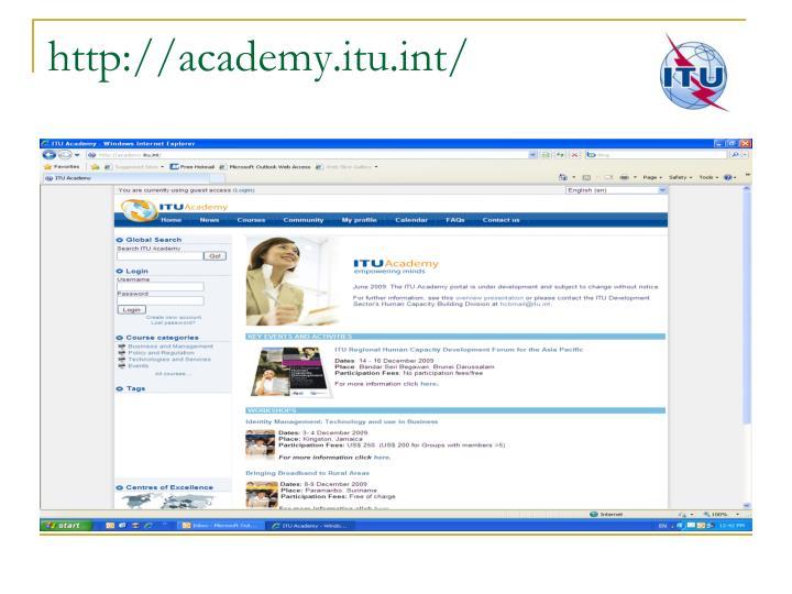 http://academy.itu.int/