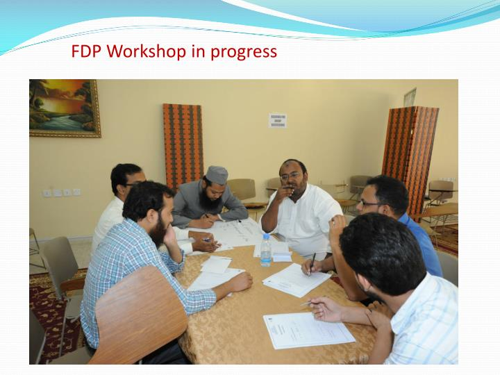 FDP Workshop in progress
