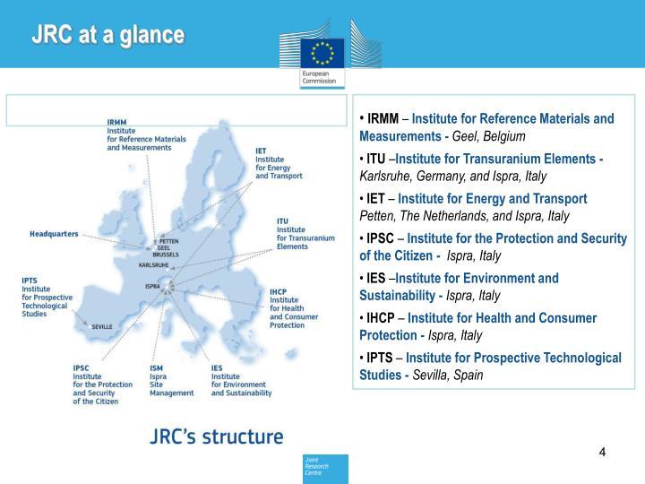 JRC at a glance