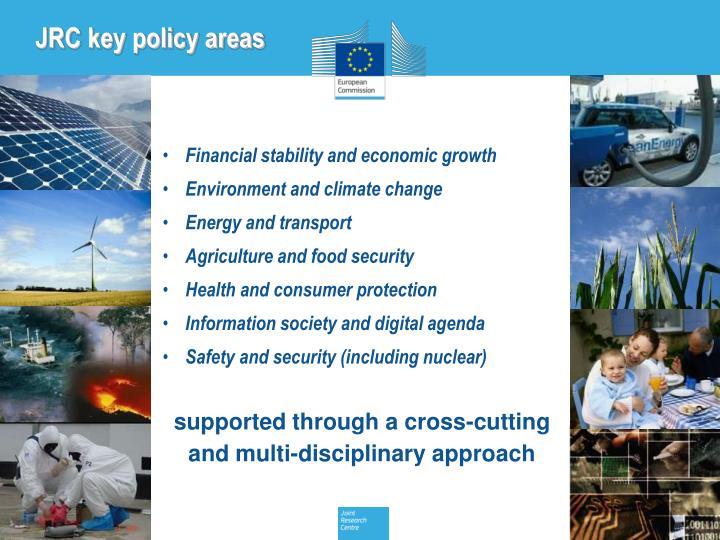 JRC key policy areas