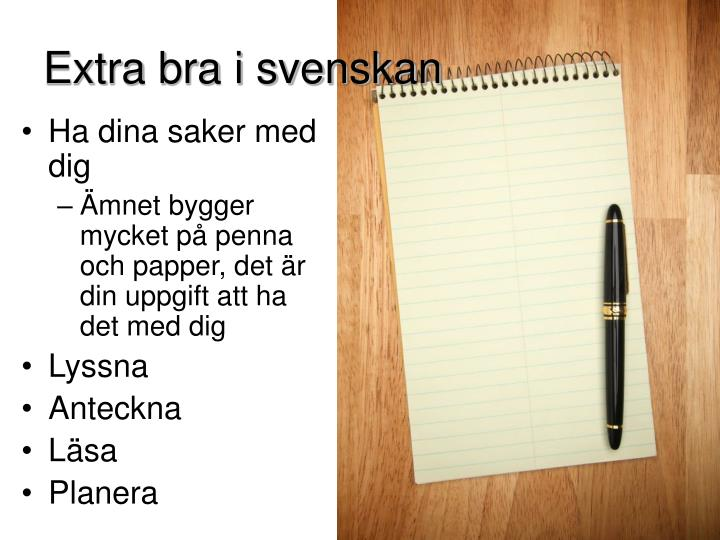 Extra bra i svenskan