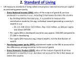 2 standard of living