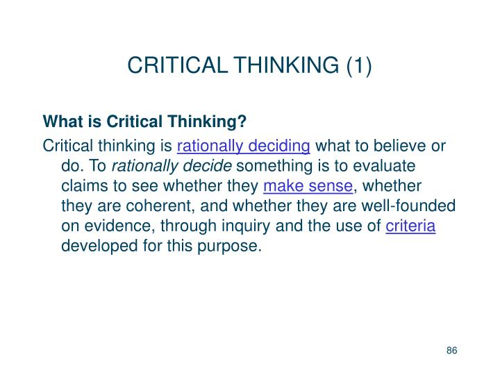 CRITICAL THINKING (1)