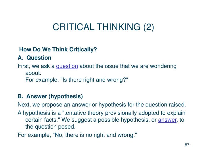 CRITICAL THINKING (2)