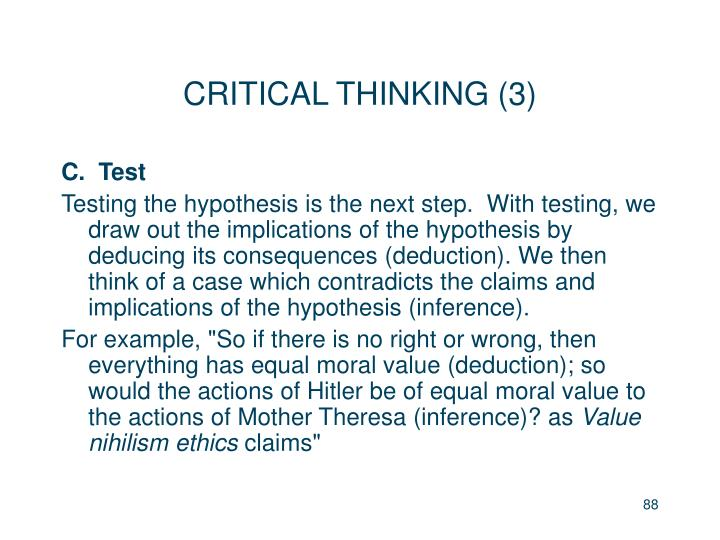 CRITICAL THINKING (3)