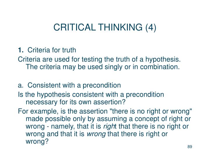 CRITICAL THINKING (4)