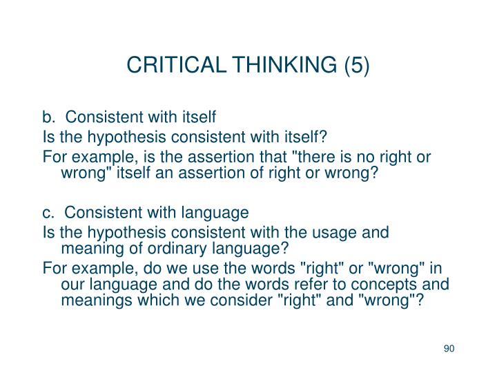 CRITICAL THINKING (5)