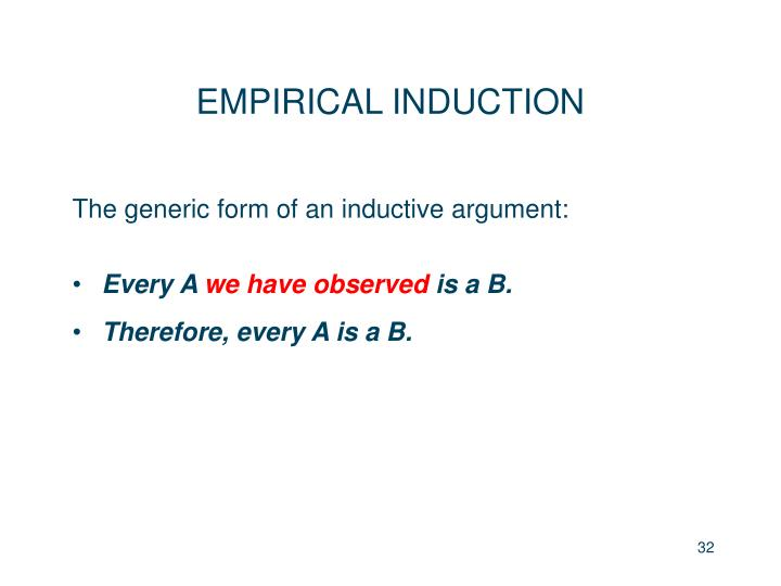 EMPIRICAL INDUCTION