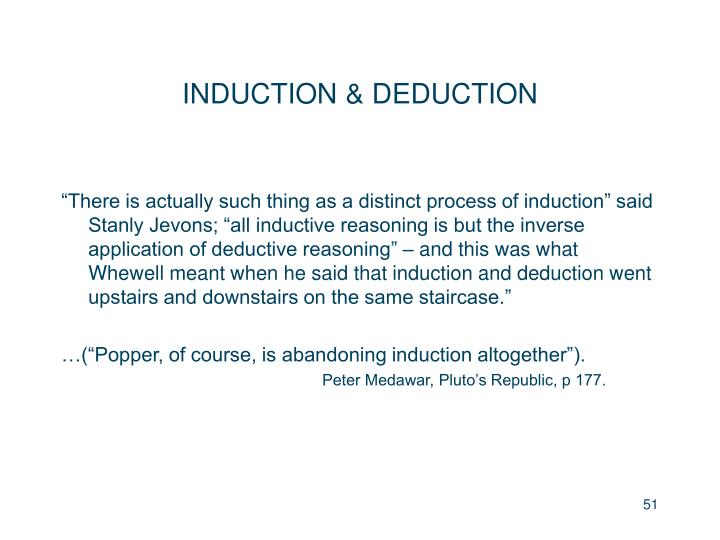 INDUCTION & DEDUCTION