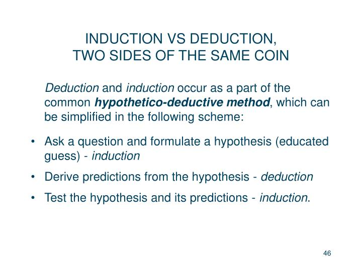 INDUCTION VS DEDUCTION,