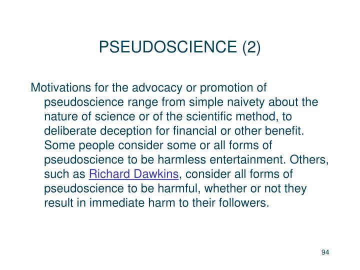 PSEUDOSCIENCE (2)