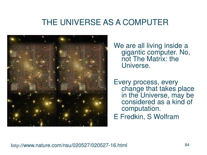 THE UNIVERSE AS A COMPUTER