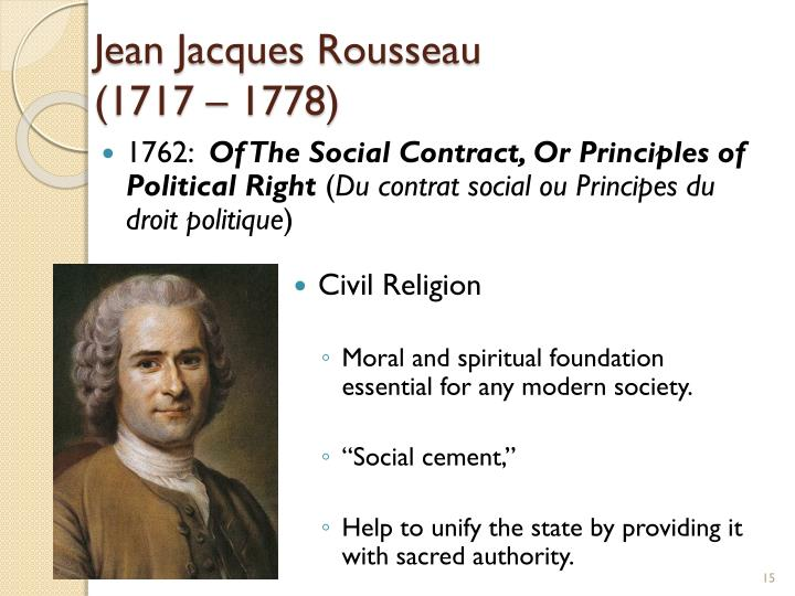 Jean Jacques Rousseau Beliefs PPT - In God We Trust ...