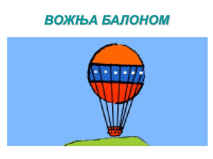 ВОЖЊА БАЛОНОМ