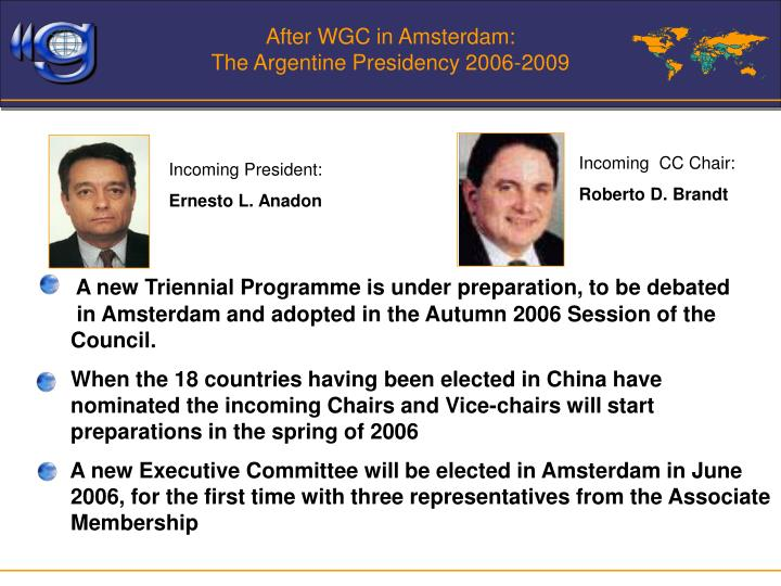 After WGC in Amsterdam