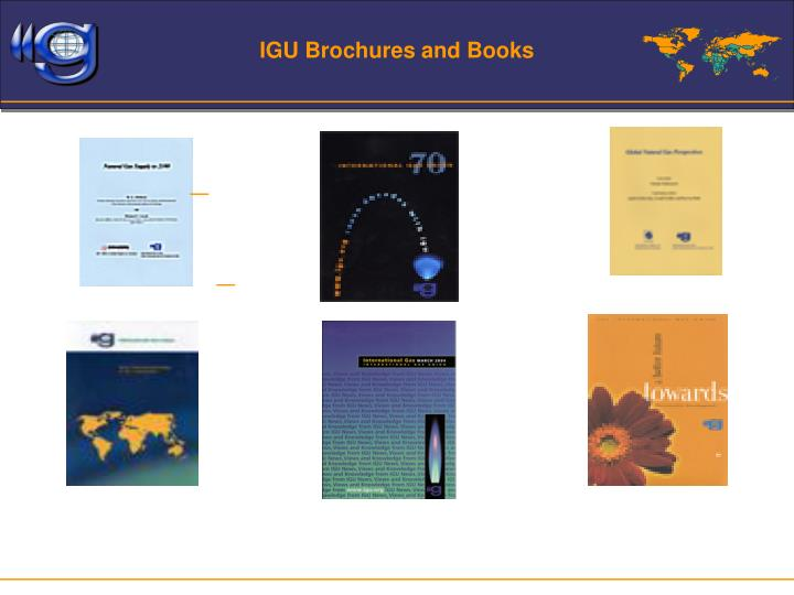 IGU Brochures and Books