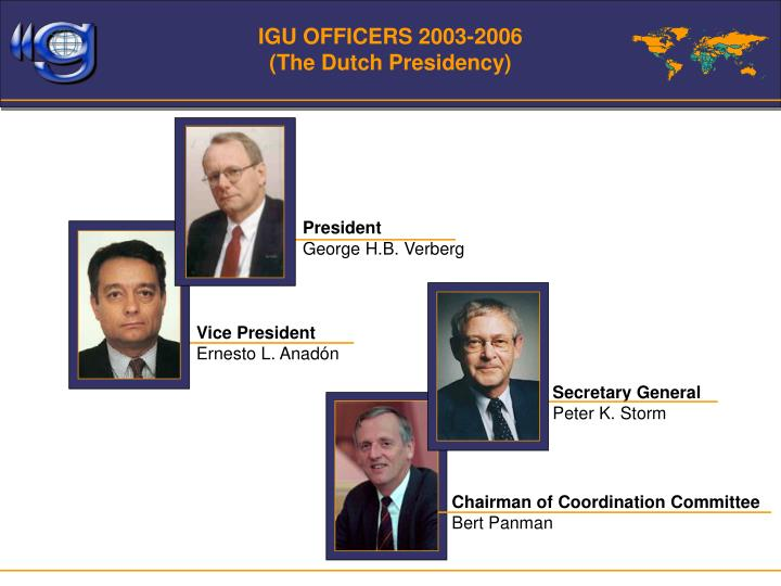 IGU OFFICERS 2003-2006
