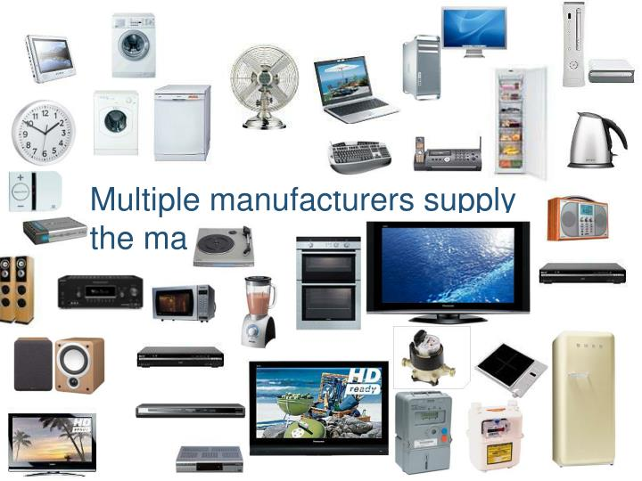 Multiple manufacturers supply the market