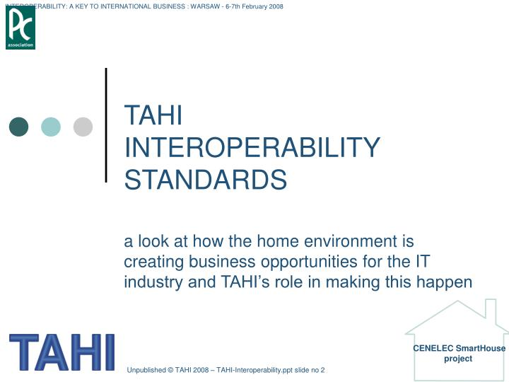 Tahi interoperability standards1