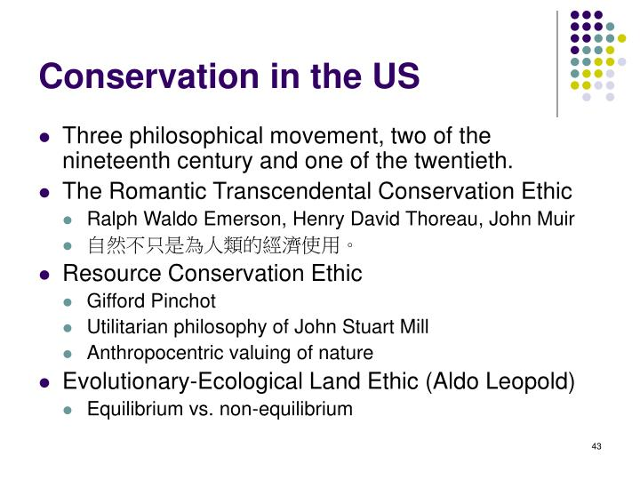 Conservation in the US