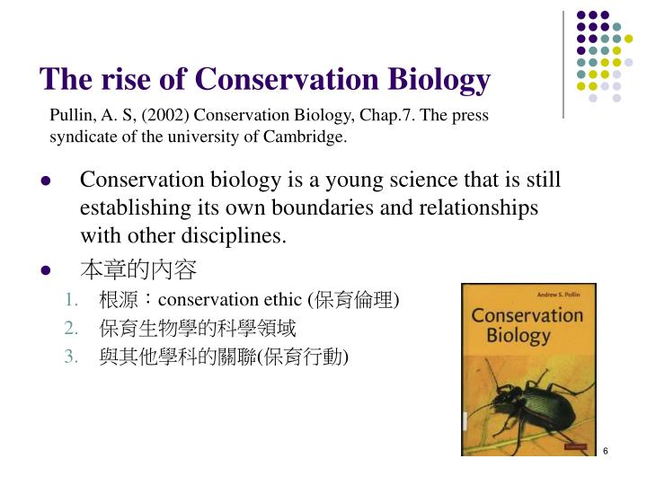 The rise of Conservation Biology
