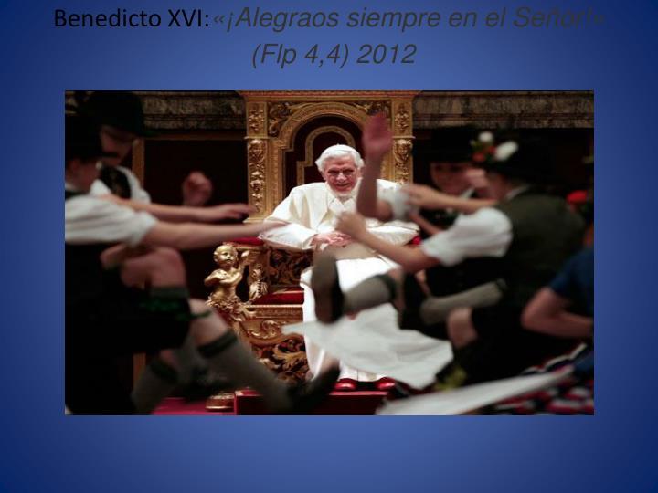 Benedicto XVI: