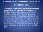 cap tulo iv la dimensi n social de la evangelizaci n
