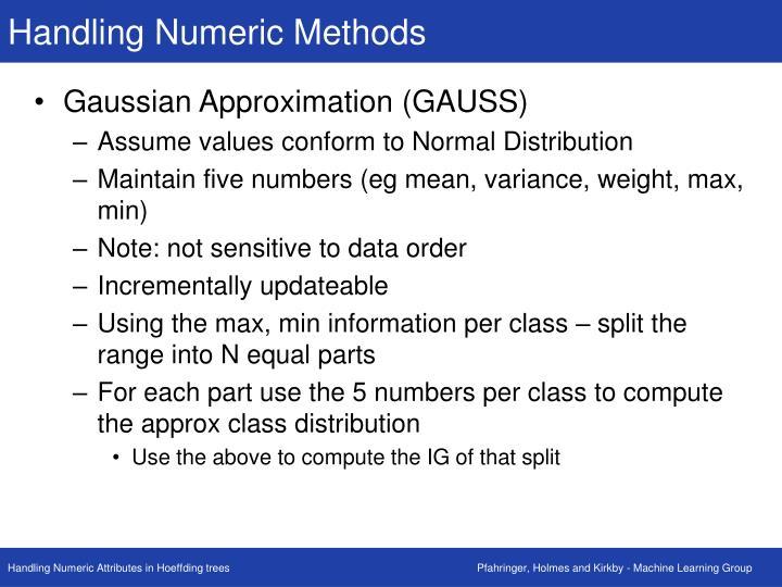 Handling Numeric Methods