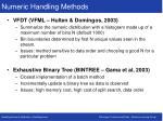 numeric handling methods