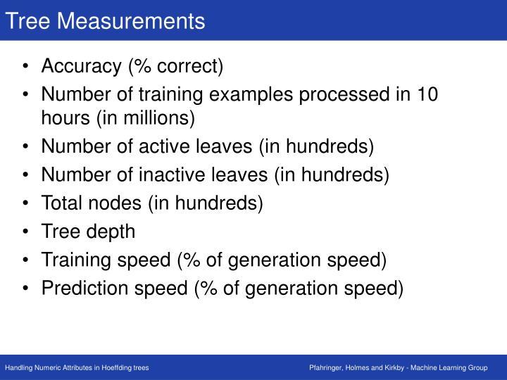 Tree Measurements