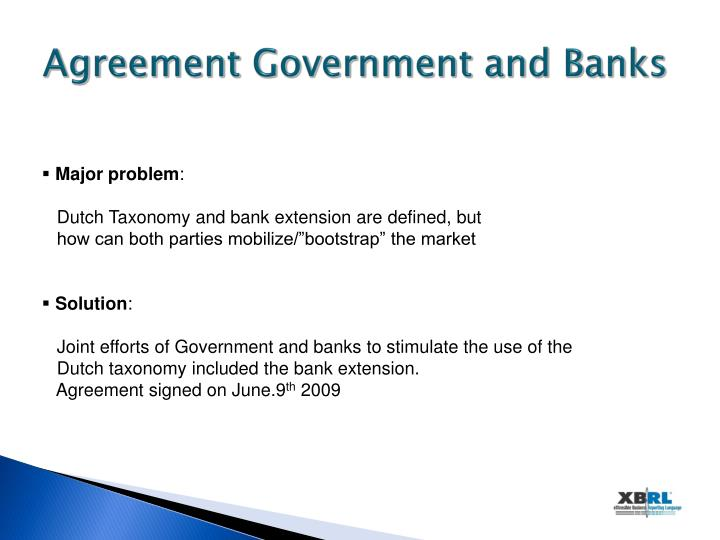 Agreement Government and Banks