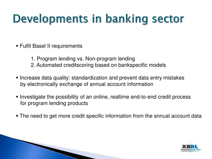 Developments in banking sector