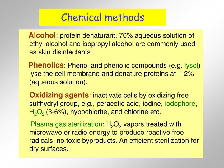 Chemical methods