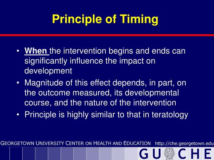 Principle of Timing