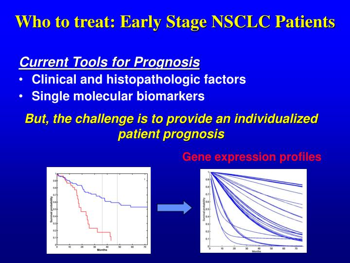 Who to treat: Early Stage NSCLC Patients