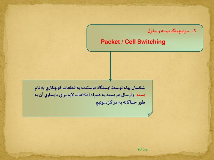 3-  سوئيچينگ بسته و سلول