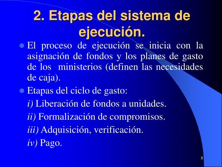 2. Etapas del sistema de ejecución.