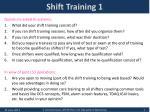 shift training 1